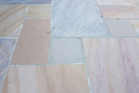 The stunning sandstone patio
