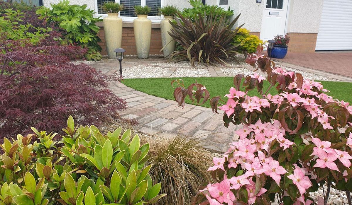 Low maintenance front garden