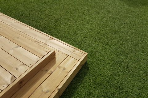 The beautiful combination of wood and grass