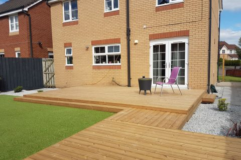 The new decking on various levels