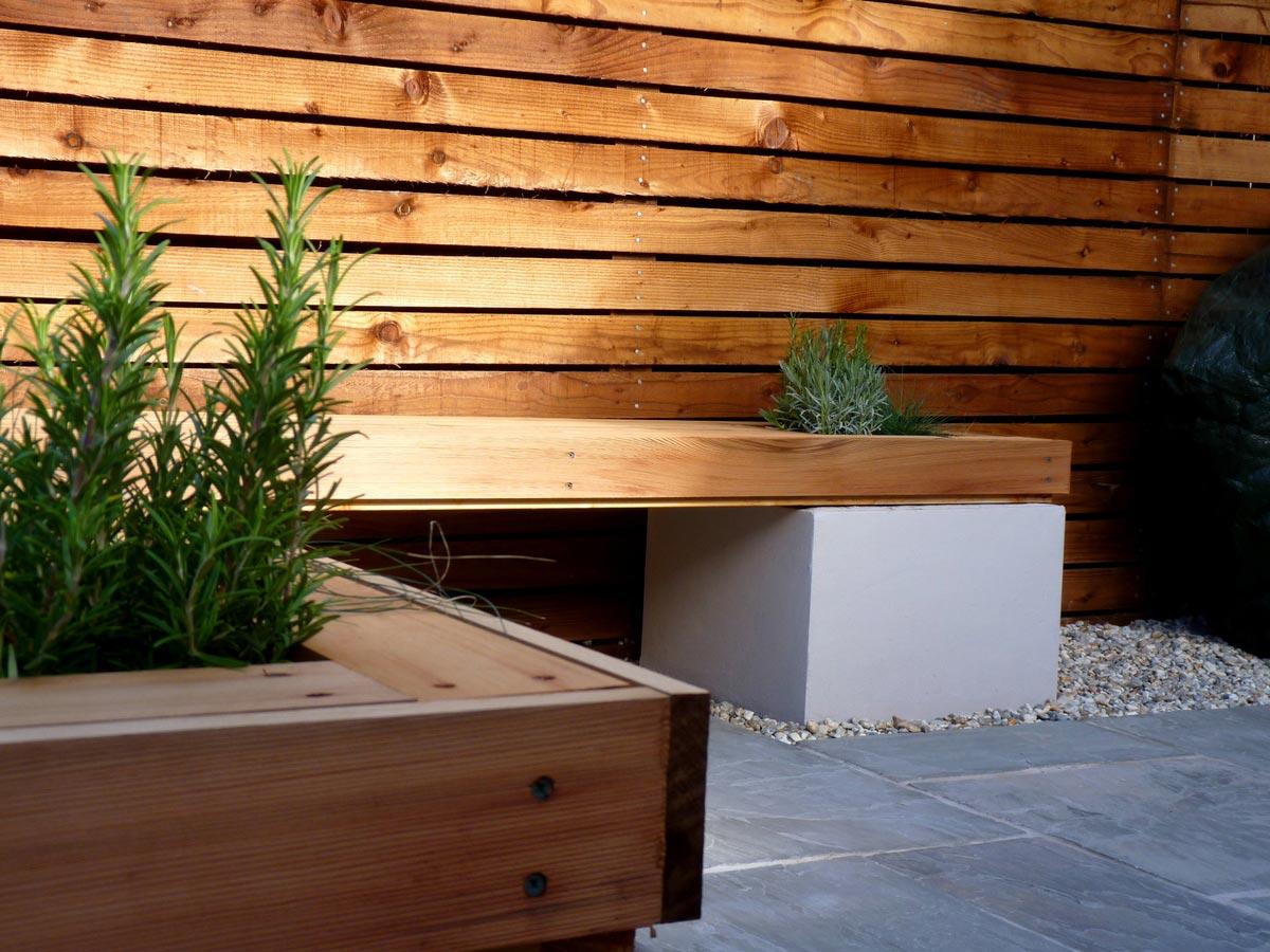 A contemporary garden