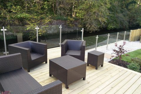 The new relaxing riverside deck