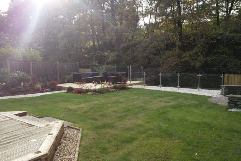 View from existing deck to new deck