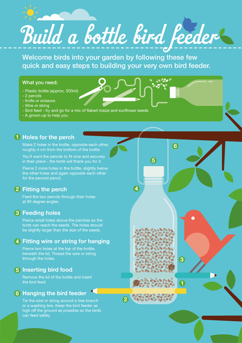 Sainsbury's Bank Guide to Building a Bottle Bird Feeder