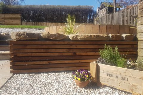 An upcycled pallet makes a lovely bespoke herb planter
