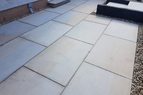 The polished sandstone gives a beautiful contemporary finish