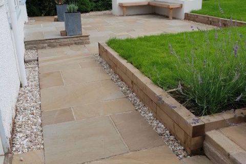 Now level access around the garden