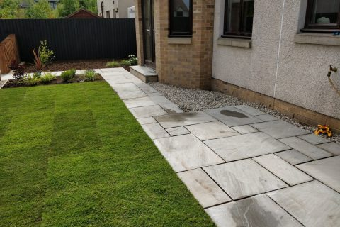 New sandstone paths create access around the garden