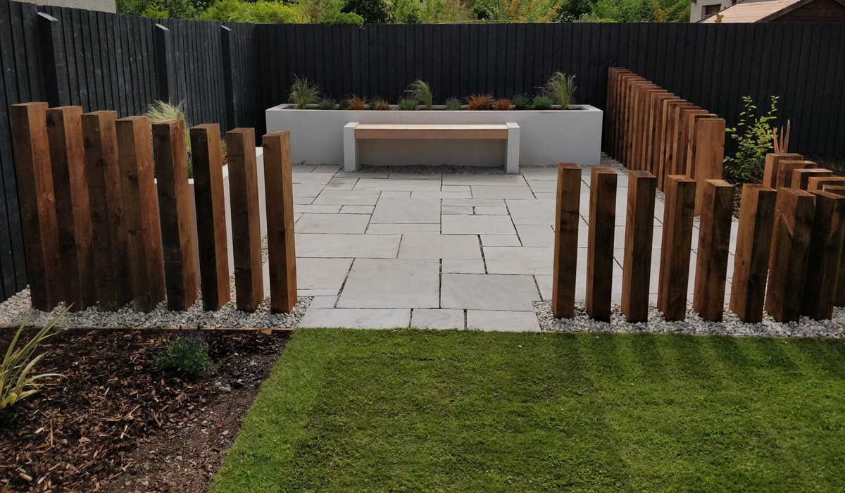 The new contemporary family garden