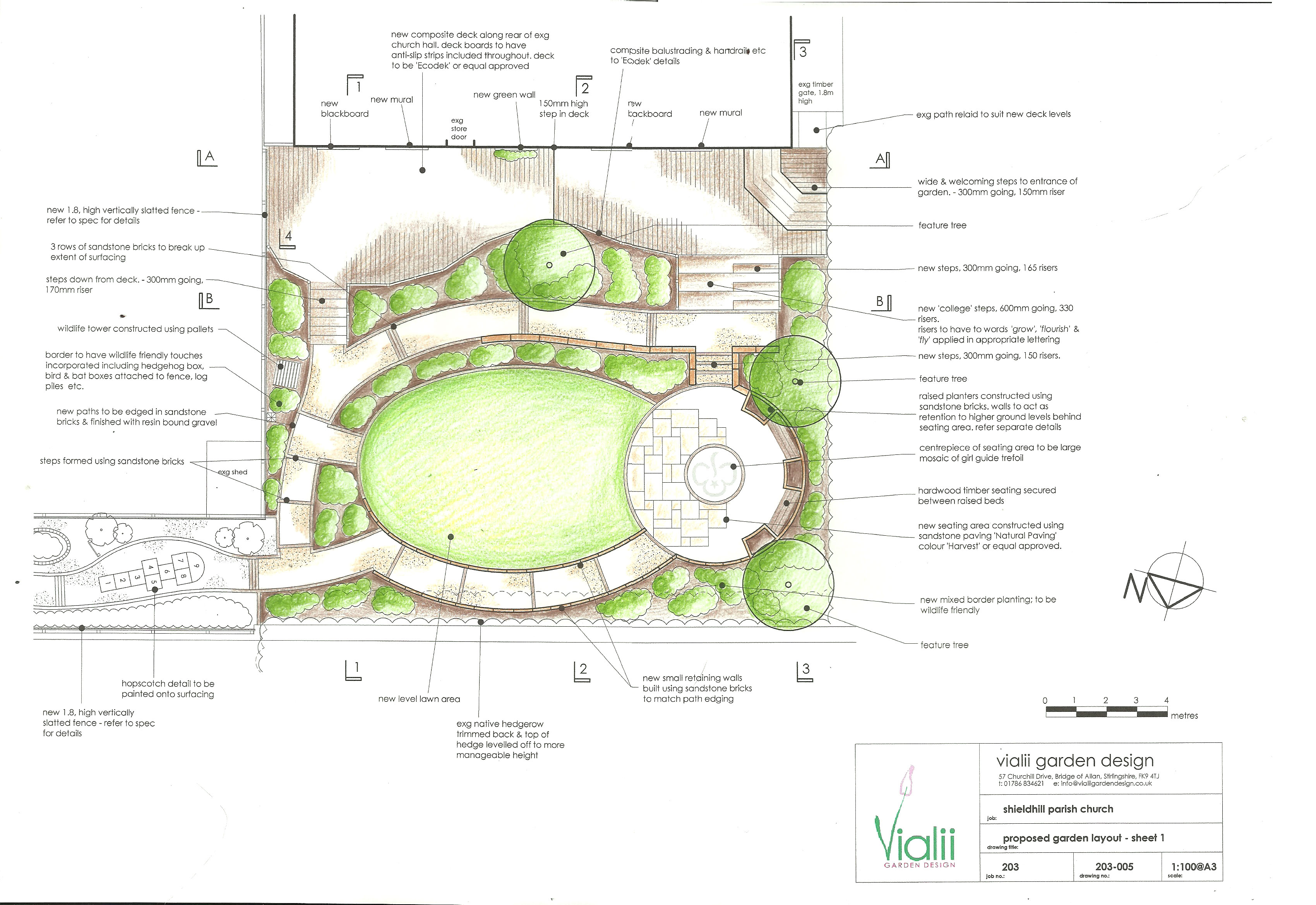 Our design for the Shieldhill garden