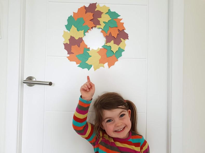 Hang your DIY autumn wreath on your door
