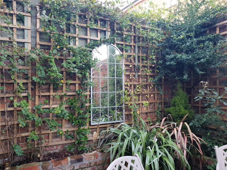 Mirrors are great for small gardens