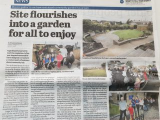 A Vialii garden design featured in the Falkirk Herald
