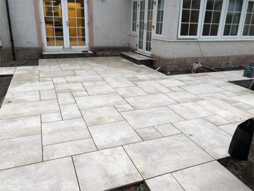 Vitrified paving is a gorgeous addition to the garden
