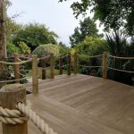 Millboard composite decking paired with chunky ropes looks stunning