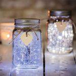 Pretty LED lights in a jar brighten up a dark balcony