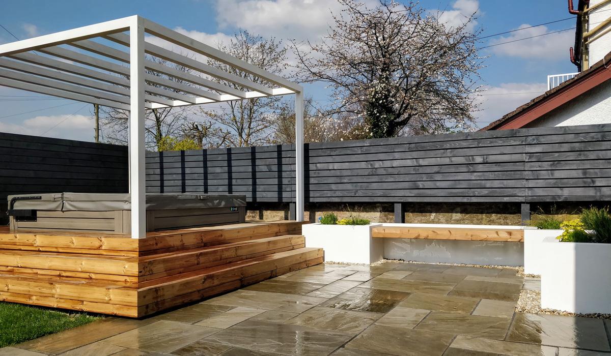 The stunning new hot tub garden