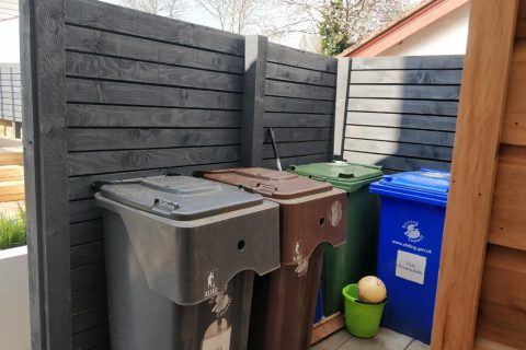 The wheely bins have a new hidden home