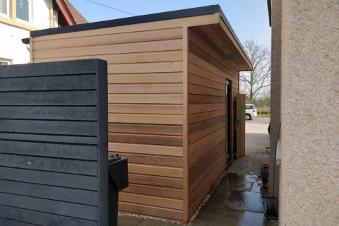 The new garden room is a stylish place for storage and extra living space