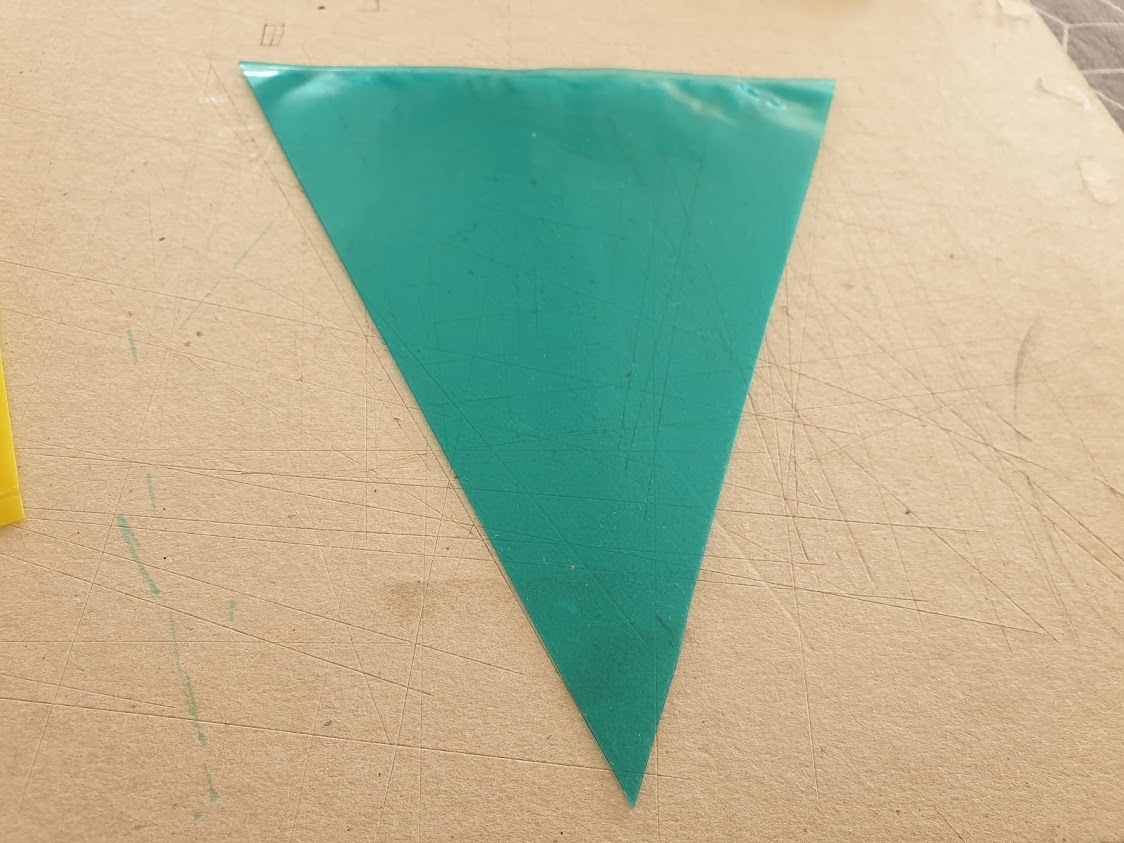 Make your bunting out of the plastic wallet