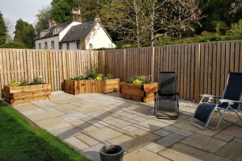 The new paths, patios and raised beds are accessible to all the family