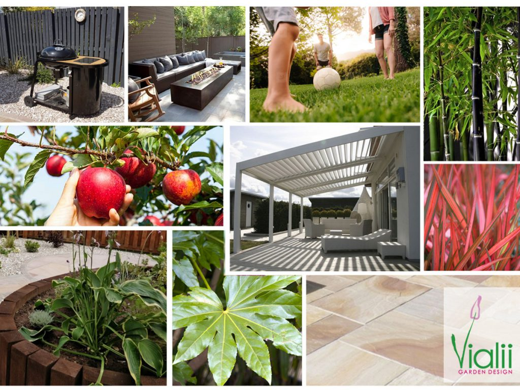 Our moodboard for an accessible garden