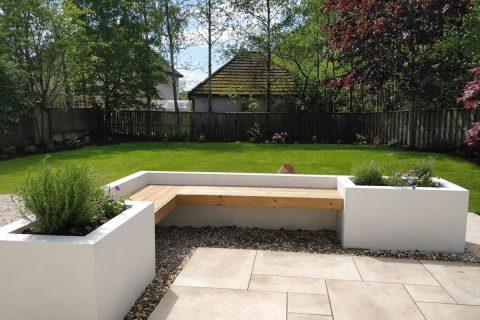 The new bespoke garden seat
