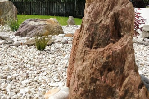 Large stones and beautiful planting