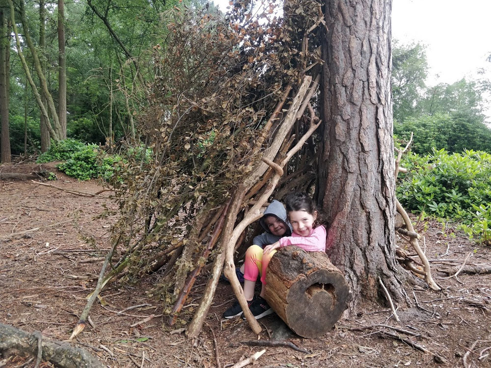 The den building area was popular with our girls