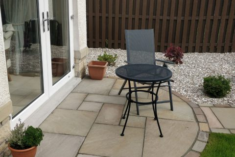The new sandstone morning patio