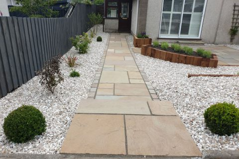 The new path is a welcoming entrance