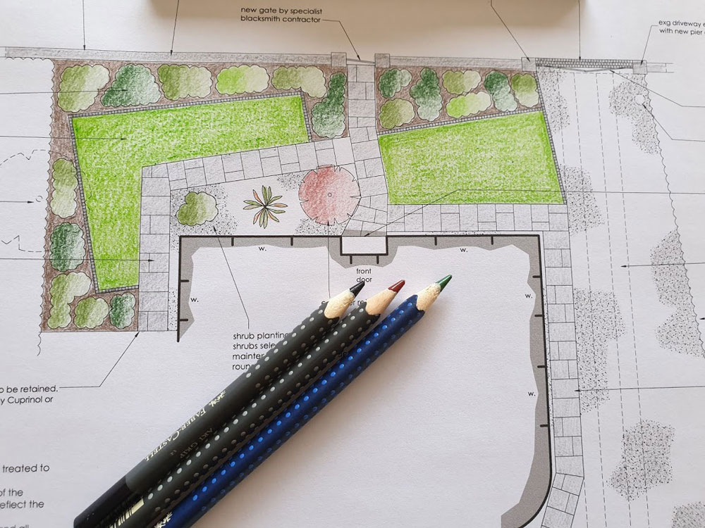 Your final design pack will include a full colour, scaled drawing of our new garden design