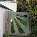 This was our favourite gate. It has a retro sun-burst design which we love and reminds us of our own garden gates...