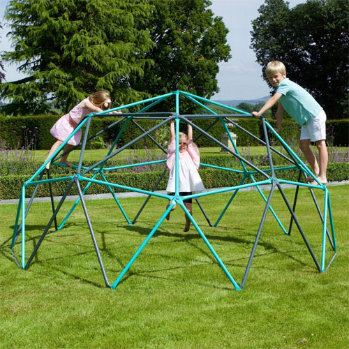 A geometric climbing frame is a cool way to keep the kids occupied