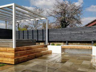 The modern hot tub garden