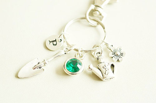 A beautiful personalised keyring is the perfect gift for a gardener