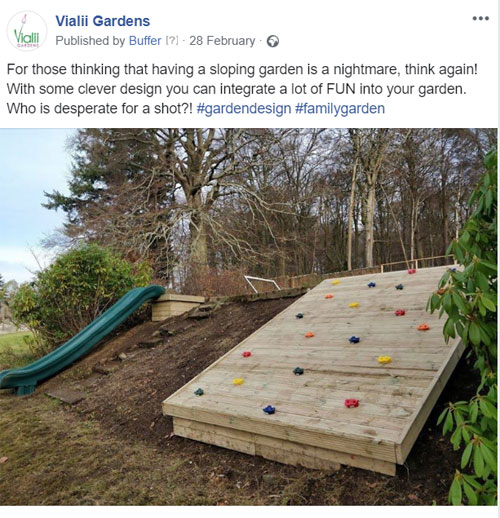 A great way to tackle a sloping garden