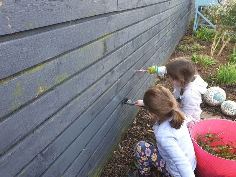 Get the kids to help paint your fence!