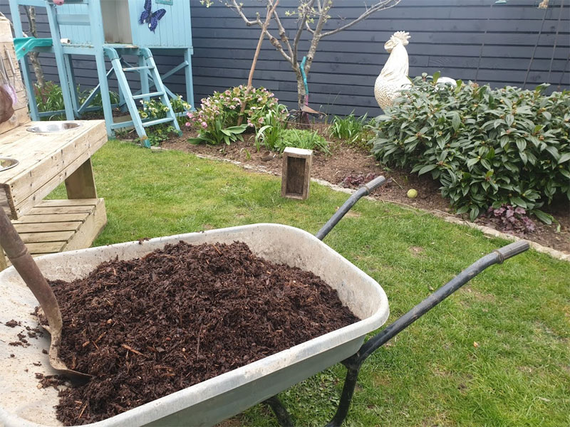 Mulch your borders with some bark
