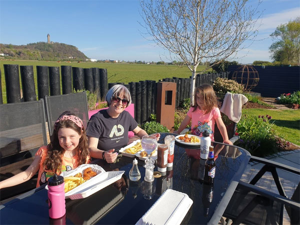 We have been making the most of the weather and eating outdoors lots