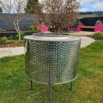 We have a shiny new fire-pit made from an old washing machine drum