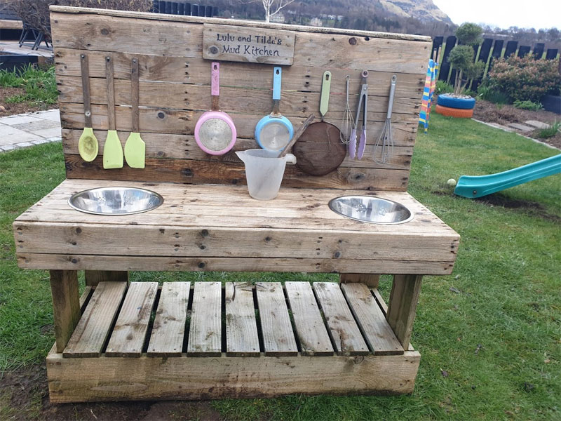 We cleaned the mud kitchen - ironic we know!