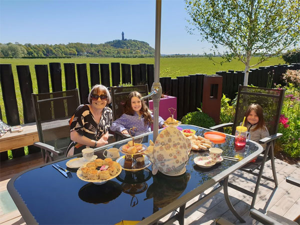Afternoon tea in the sunshine - it doesn't get much better than that!