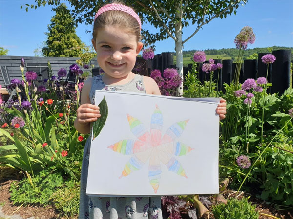 The completed picture - well done Tilda, it looks amazing!