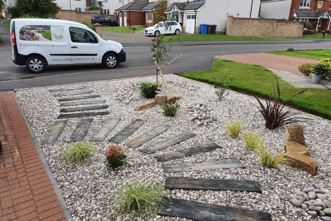 The front garden now has kerb appeal