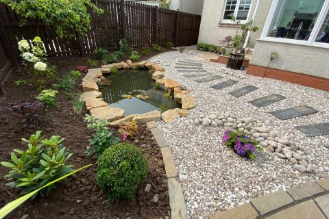 The new planting softens the garden as well as being a haven for wildlife