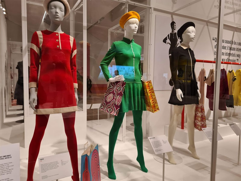 The Mary Quant exhibition is packed full of glorious fashions!
