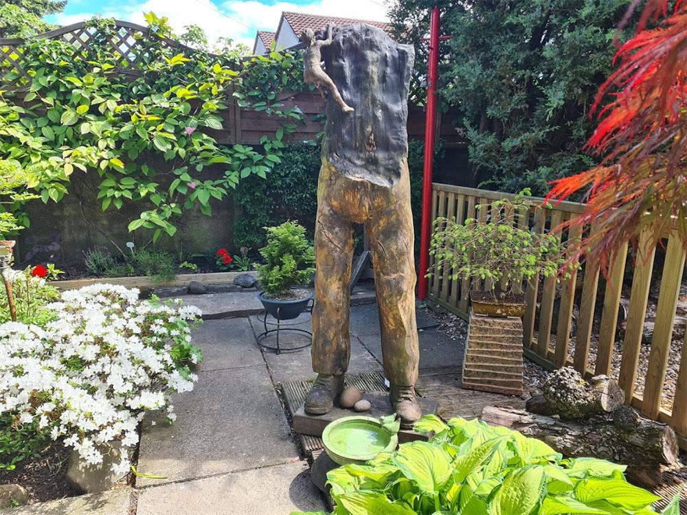 The woodman is a stunning garden sculpture