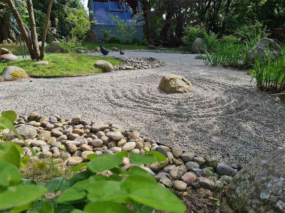 The relaxing Zen garden