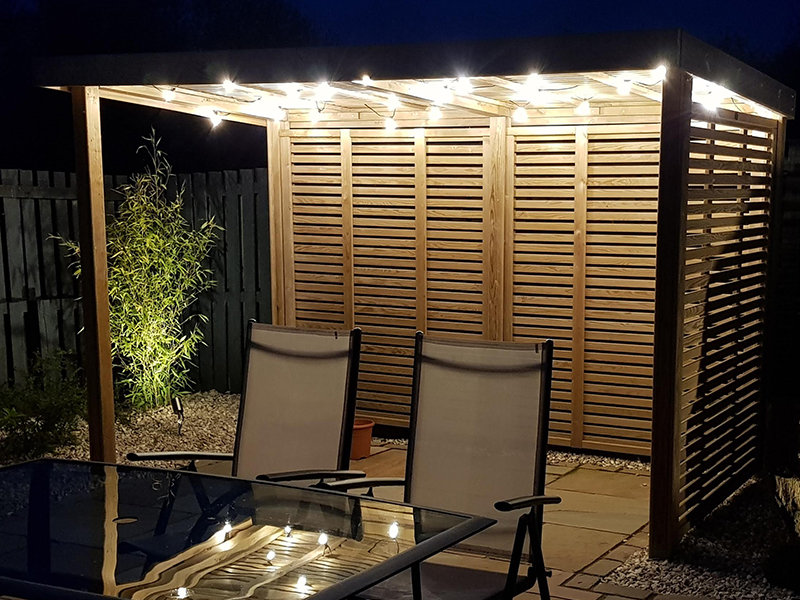 Festival lighting can add a real feel of excitement in the evening and light up your garden